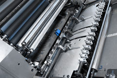 Offset printing press in printery Stock Photography