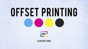Offset Printing Process CMYK Cyan Magenta Yellow Key Concept Royalty Free Stock Images