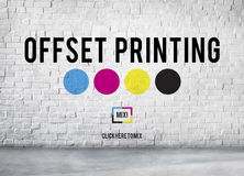 Offset Printing Process CMYK Cyan Magenta Yellow Key Concept. Offset Printing Process CMYK Cyan Magenta Yellow Key royalty free stock photography