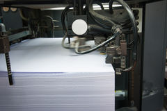 Offset printing process. In a modern printing house Stock Photos