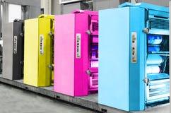 Offsetdruck-Maschine stockbild