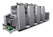 Offsetdrucker stock abbildung