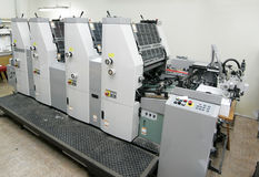 Offsetmaschine lizenzfreies stockfoto