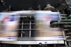 Offsetmaschine - drücken Sie Drucken Stockbild