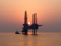 Offshoreölplattform Stockfoto