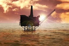 Offshore. Stock image of offshore oil rig Stock Image