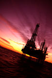 Offshore. Oil platform in the Red Sea Royalty Free Stock Image