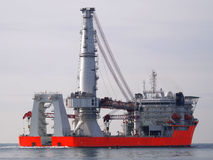 Offshore A2. High tech offshore oil, gas and wind farm construction vessel Royalty Free Stock Image