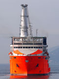 Offshore A2. High tech offshore oil, gas and wind farm construction vessel Stock Photos