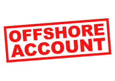 OFFSHORE ACCOUNT. Red Rubber Stamp over a white background stock illustration