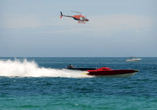 Offshore boat race Stock Images