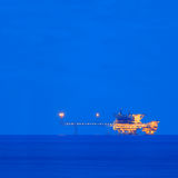 Offshore Central Processing Production Platforms For Oil and Gas Industry Stock Photography