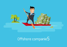 Offshore Companies Concept Flat Design Vector Stock Photo