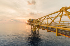 Offshore construction platform for production oil and gas.Oil and Gas Rig in offshore royalty free stock photos