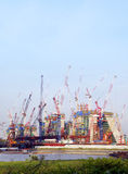 Offshore constructions site Royalty Free Stock Photography