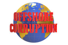 Offshore Corruption concept, 3D rendering Royalty Free Stock Photo