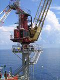 Offshore Crane. Pedestal, and operator Royalty Free Stock Photography