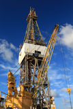 Offshore Drill Rig and Rig Crane Stock Image