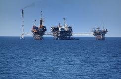 Offshore drilling Royalty Free Stock Images