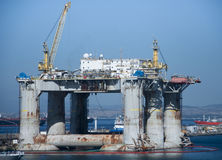 Offshore Drilling Platform Royalty Free Stock Images