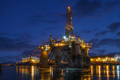 Offshore drilling platform in repair Stock Photo