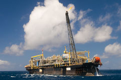 Offshore FPSO oil rig royalty free stock photography
