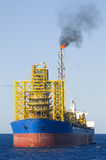 Offshore FPSO oil rig Royalty Free Stock Images
