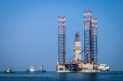 Offshore gas exploration rig Stock Image