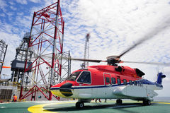 The offshore helicopter Royalty Free Stock Photography