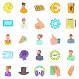Offshore icons set, cartoon style Royalty Free Stock Image