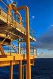 Offshore the Industry oil and gas. Production petroleum pipeline stock image
