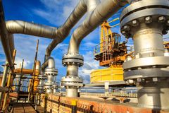 Offshore the Industry oil and gas. Production petroleum pipeline stock photography