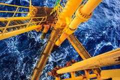 Offshore Industry oil and gas. Production petroleum pipeline royalty free stock images