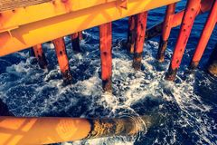 Offshore Industry oil and gas. Production petroleum pipeline stock images