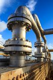 Offshore the Industry oil and gas. Production petroleum pipeline royalty free stock photography