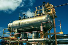 Offshore Industry oil and gas. Production petroleum pipeline royalty free stock photos