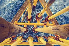 Offshore Industry oil and gas. Production petroleum pipeline royalty free stock photography