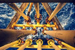 Offshore Industry oil and gas. Production petroleum pipeline stock photography