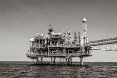Offshore Industry oil and gas royalty free stock photography