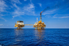 Offshore Industry oil and gas Royalty Free Stock Photos