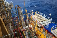 Offshore Industry oil and gas royalty free stock images