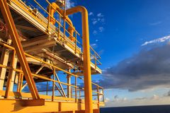 Offshore the Industry oil and gas. Production petroleum pipeline stock photo