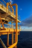 Offshore the Industry oil and gas. Production petroleum pipeline royalty free stock photos