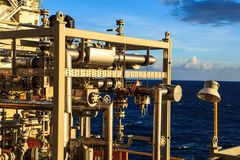 Offshore the Industry oil and gas. Production petroleum pipeline royalty free stock images