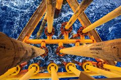 Offshore Industry oil and gas. Production petroleum pipeline stock image