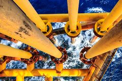 Offshore Industry oil and gas. Production petroleum pipeline stock photos