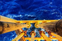 Offshore Industry oil and gas. Production petroleum pipeline royalty free stock image