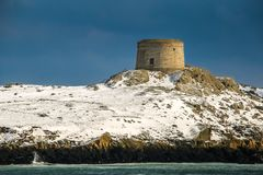 Martello tower. Dalkey island. Dublin. Ireland. Offshore island with the ruins of an old church and a martello tower. county Dublin. Ireland stock photos