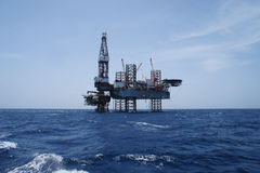 Offshore Jack Up Oil Drilling Rig Stock Image