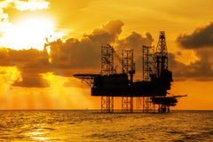 Offshore Jack Up Rig stock images